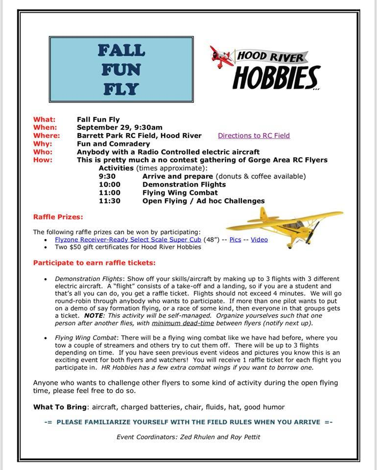 RC FUN FLY – Hood River Hobbies